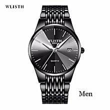 WLISTH Brand Luxury Men's Quartz Watch Men Waterproof Ultra Thin Analog Clock Male Fashion Sports Watches Black Relogio Masculin 358