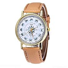 Watch Sugar Candy Color Male And Female Strap Wrist Watch-Khaki