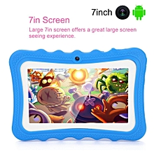 7IN Tablet Dual Camera WiFi Learning Tablet 512M+8GB for Kids + Protective Cover AU Plug - Blue