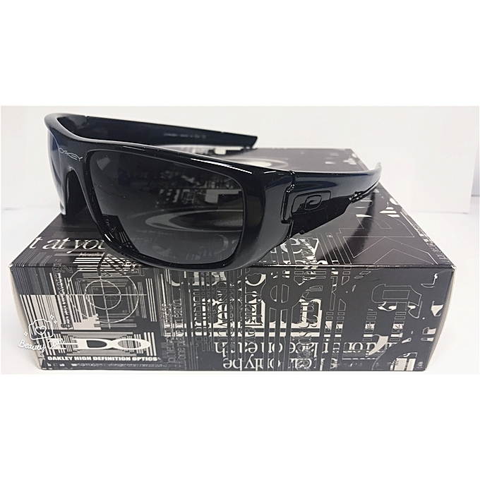 89baf8faa8 Oakley Sunglass Crankshaft!!Polarized Bright Black Grey Iridium Lens