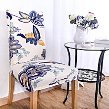 KCASA WX-PP3 Elegant Flower Elastic Stretch Chair Seat Cover Dining Room Home Wedding Decor