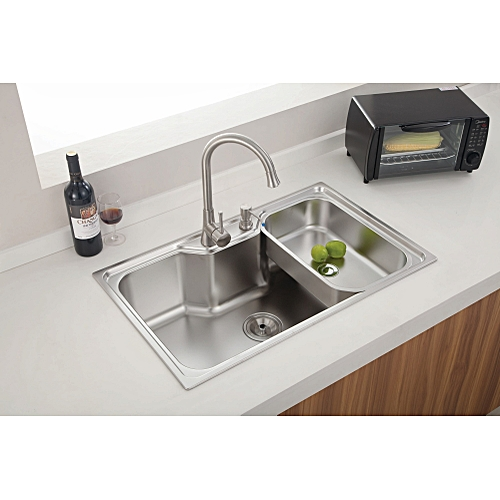 Newmatic 24cm-Deep Rectangle Modern Kitchen Sink With Accessories @ Best Price