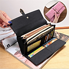 Women Lady Clutch Long Purse PU Wallet Phone Pocket Card Holder Buckle For Phone Below 5.5 Inch