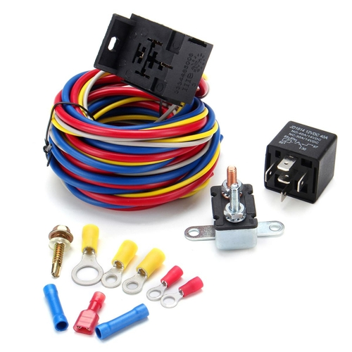 generic electric cooling fan wire harness kit relay circuit breakergeneric electric cooling fan wire harness kit relay circuit breaker wiring harness sbc