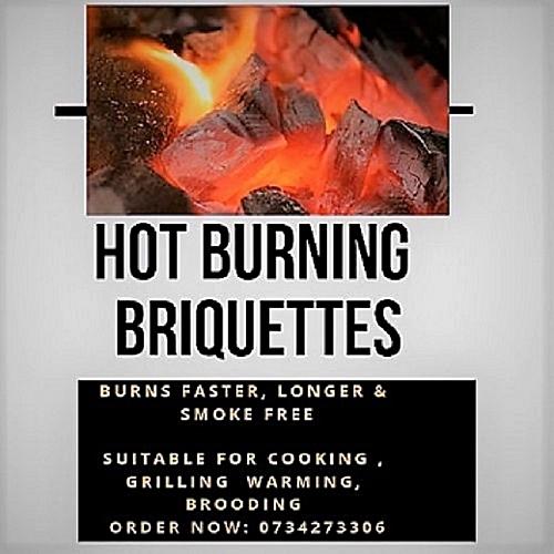 HOT BURNING CHARCOAL BRIQUETTES