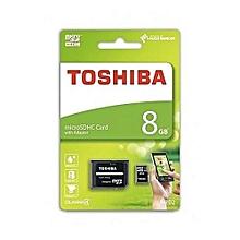 Micro SD Memory Card - 8GB - Black