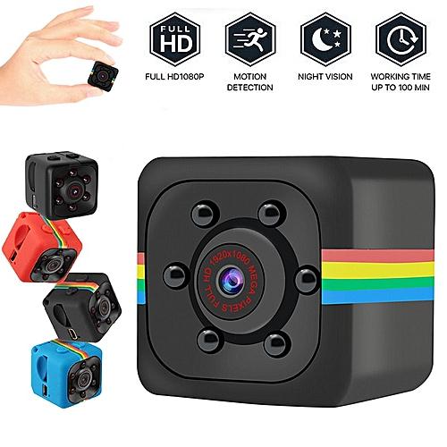 SQ11 Mini Camcorder 1080P Sports mini Camera DV DVR Night Vision Monitor  micro small camera Video Recorder Cop Pocket cam sq13 JUN(Red)( Cam add 16G