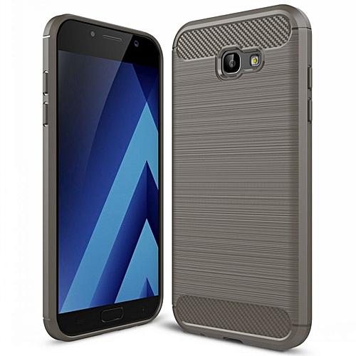 7ec924f13b4 Generic Carbon Fiber Case Sfor Fundas For Samsung Galaxy A3 2017 Case A320  A320F 4.7 Inch Case For Samsung A3 2017 Case (Grey)
