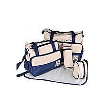 Shoulder  Diaper Bag, Multi Pockets Waterproof Nappy Bag For Travel, Large Capacity and Stylish -Navy Blue