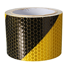 3M Black Yellow Night Reflective Safety Warning Conspicuity Tape Film Sticker