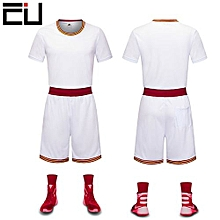 0ce5adcb8 Customized Blank Youth Men  039 s Basketball Team Sports Jersey -White(GY