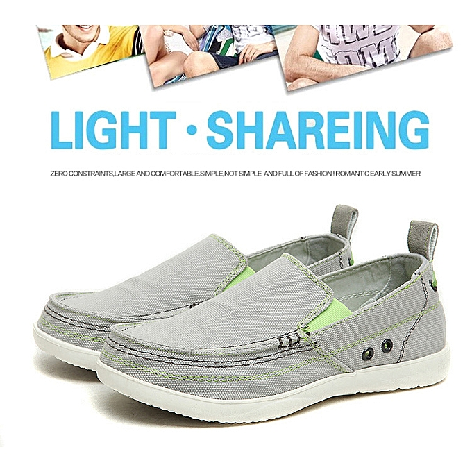 98242269050e4 Fashion Men Comfort Loafers Summer Breathable Canvas Slip On Casual Flat  Shoes