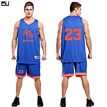 High Quality Men's Customized Basketball Team Sports Jersey Uniform-Blue(L-1632)