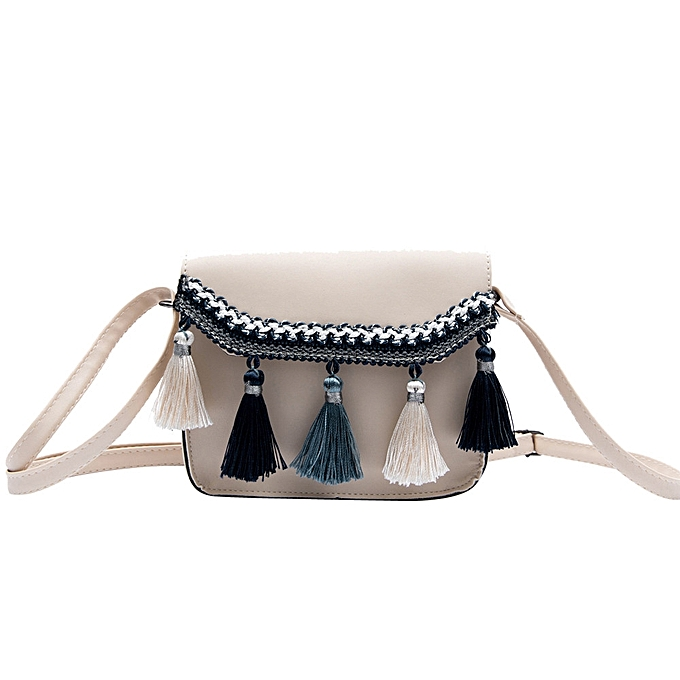 Xiuxingzi Womens Leather Crossbody Bag Vintage Tassel Shoulder Bags  Messenger Bag ... 4db5b8007