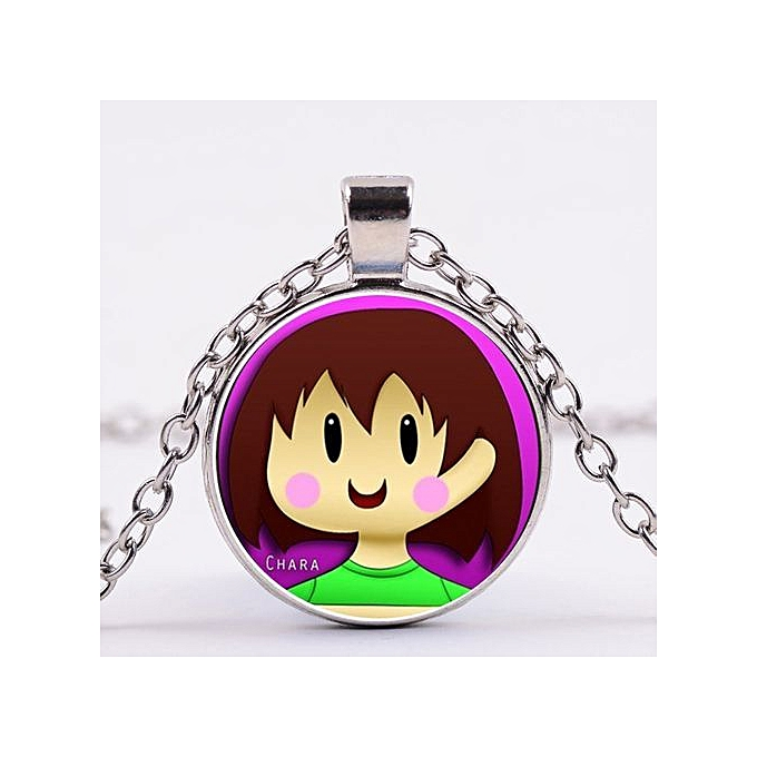 Undertale Game Video Game Handmade Fashion Bronze Necklace Silver Steam  Punk Pendant String Gift
