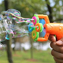 Electric Soap Bubble Gun #5 Battery Power Automatic Bubble Water Blowing Machine Kids Holiday Water Gun Toy gun with no liquild