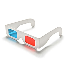 Universal Paper Anaglyph Red Cyan Red Blue Foldable 3D Glasses for Movie