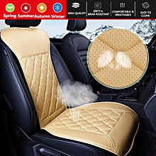 Four Seasons Car Seat Covers Universal Pu Leather Seat Pad High Resilience Not Moves Chair Cushion Cover Fit For Almost Cars