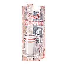 Smell Coffee Sign - 12 cm x 30 cm - Multi-Colored