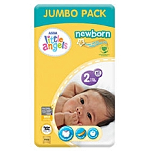 Newborn Baby Dry Diapers Size 2 for Babies Between 3-6kgs(60 Nappies)