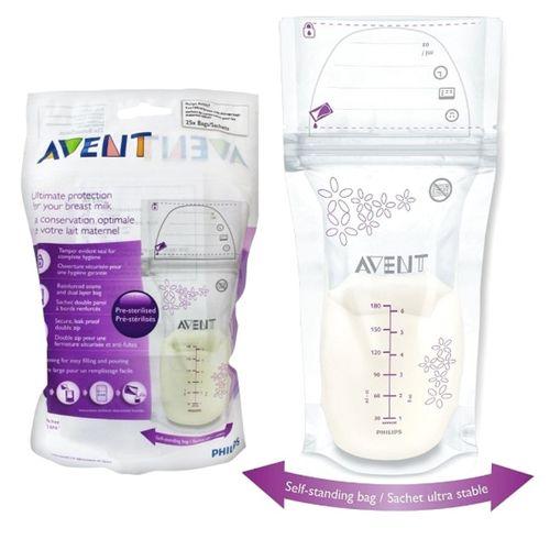 Philips Avent Breastmilk Storage Bags 180ML (Pack Of 25)