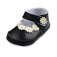 Newborn Baby Girls Walkers Soft Bottom Fashion Baby Babies Non-slip Shoes BK/11-Black