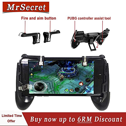 NEWEST PUBG triggler phone controller 4 in 1 gamepad with D9 fire key mouse  click sense no lock screen high quality PUBG joystick MLLQJ