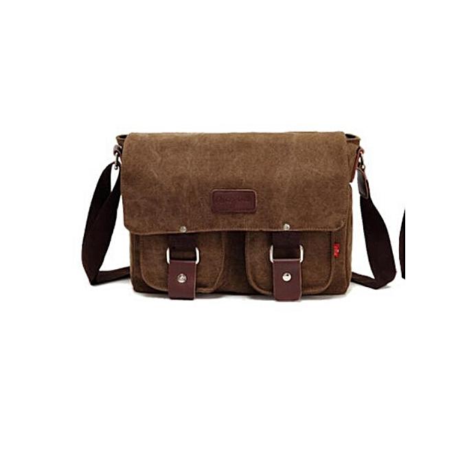 0dfe31c83a Men Crossbody Bag Vintage Canvas Bag Military Style Messenger Bag