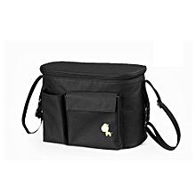 UJ Large Capacity Pram Bag Mummy Handbag Pushchair Baby Stroller Organizer-black