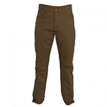 Brown Mens Straight Fit Pants