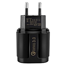 18W Quick Charge QC3.0 Travel Home AC Wall Single Port USB Charger Adapter For Samsung Nexus 6 EU Plug Black