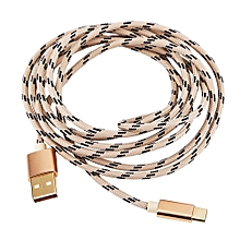 Type C Braided Data Sync Charging USB 3.1 Cable 2M Gold