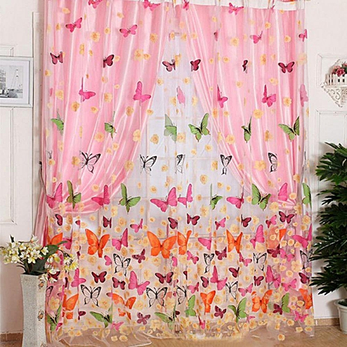 Buy Louis will Butterfly Style Design Window Curtain Living Room ...