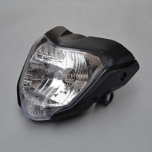 motorcycle Headlight Assembly Headlamp Light For Yamaha FZ16 ABS Plastic  black