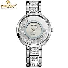 Diamond  Luxury Brand Wristwatch With Rhinetone and Crystals Ladies Watch Quartz