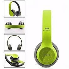 P47 Bluetooth Headphone Wireless Headset Hands Free Bluetooth Earphone Fashion Foldable Portable Headsets - Green