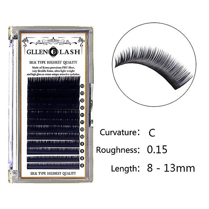 8-13mm Mixed Sized Makeup Individual Eyelashes Mink Eye Lashes Extension  0 15 C