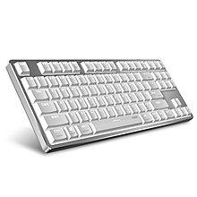 Rapoo MT500 87-Key Ultra-Slim Red Switch Wired Mechanical Keyboard for Office