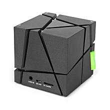 Mini Portable Cube LED Stereo Wireless Bluetooth Speaker for SmartPhone Tablet-Black