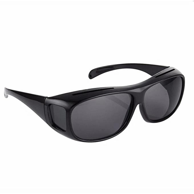25ca8cd60328 HD Vision Wrap Arounds TV Sunglasses Multifunctional Night Vision Black