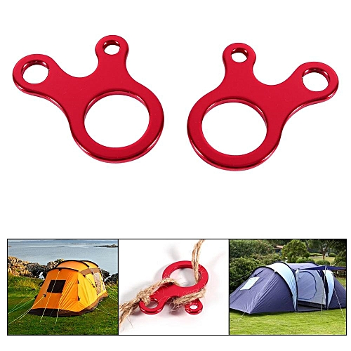 10pcs Aluminum Camping Awning Cord Rope Tensioner Guy Line Runners Hook  Hanger