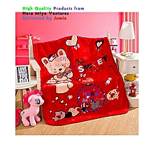 Super soft Trendy Coral Fleece Baby Blanket for Babies - Red Theme Multicolour
