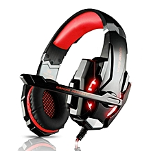 EACH Pro G9000 3.5mm USB Gaming Headset Stereo Gamer Razer Headphone With Mic LED Light For Laptop Tablet PS4 Phones  BDZ Mall