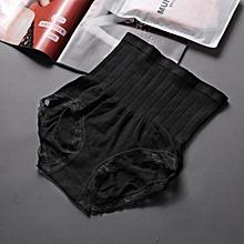 Sport Running Breathable Women Underwear High Waist Trainer Body Shaper-Black