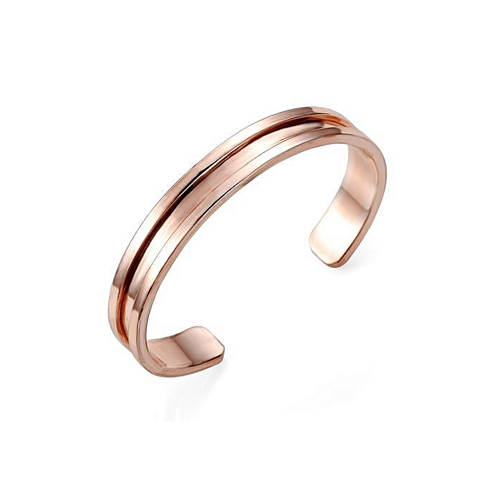 New Arrivals Stainless Steel Hair Tie Holder Bracelet Cuff Bangle Wristband  Grooved Rose b80704ec059
