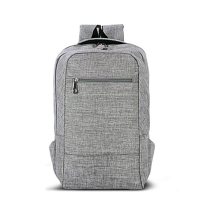 Men Laptop 15.6   Canvas Backpack Fashion School Travel Shoulder Bag  Rucksack Grey da6b3b5f2db90