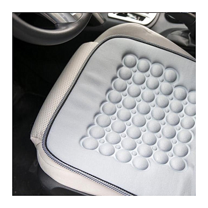 Magnetic Car Vehicle Bubble Beads Seat Cushion Cover Massage Therapy Home Gray