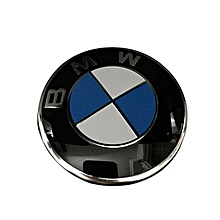 For BMW Front and Back Bonnet Boot Rear Logo Badge Emblem Roundel 82mm 2pcs
