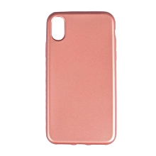 Iphone X Rubber Case Cover - Rose Gold