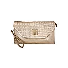 Bronze Shoulder Bag/ Baguette
